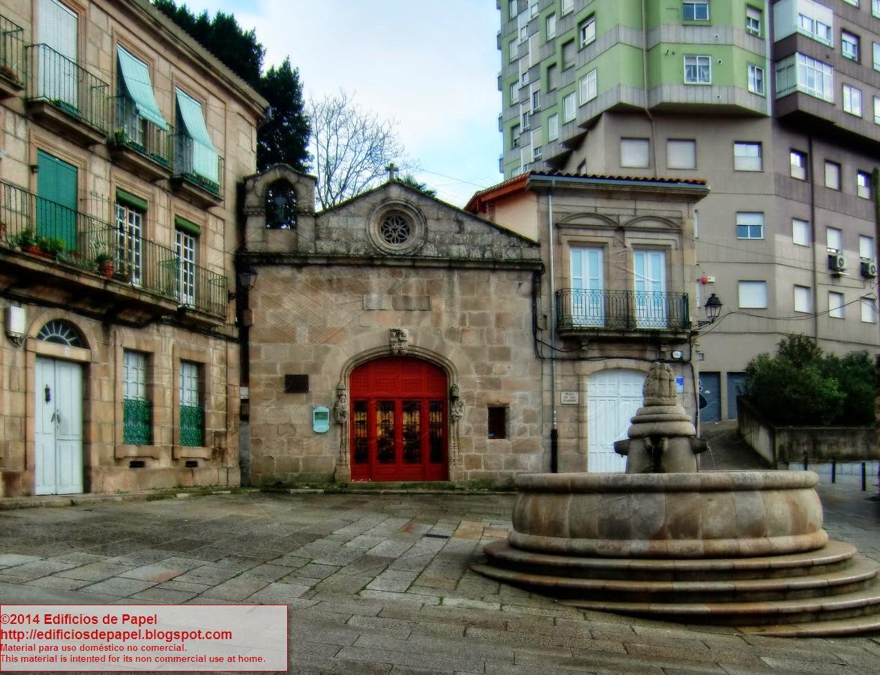 In Galician, Praza de San Cosmedes (Ourense, Spain)