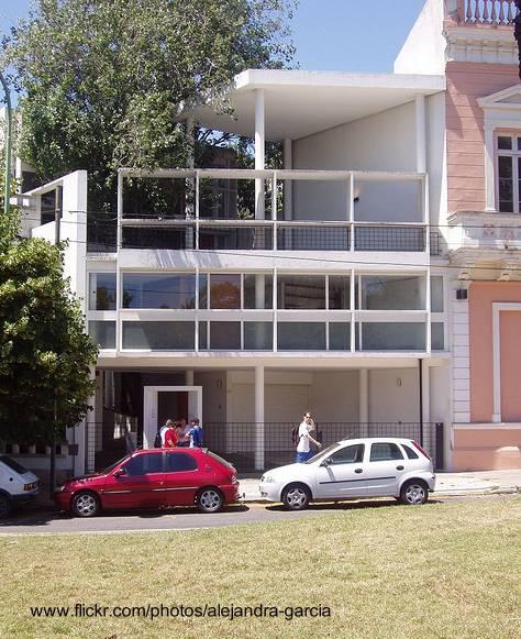 Casa Curutchet fachada diseño Le Corbusier - La Plata, Buenos Aires, Argentina