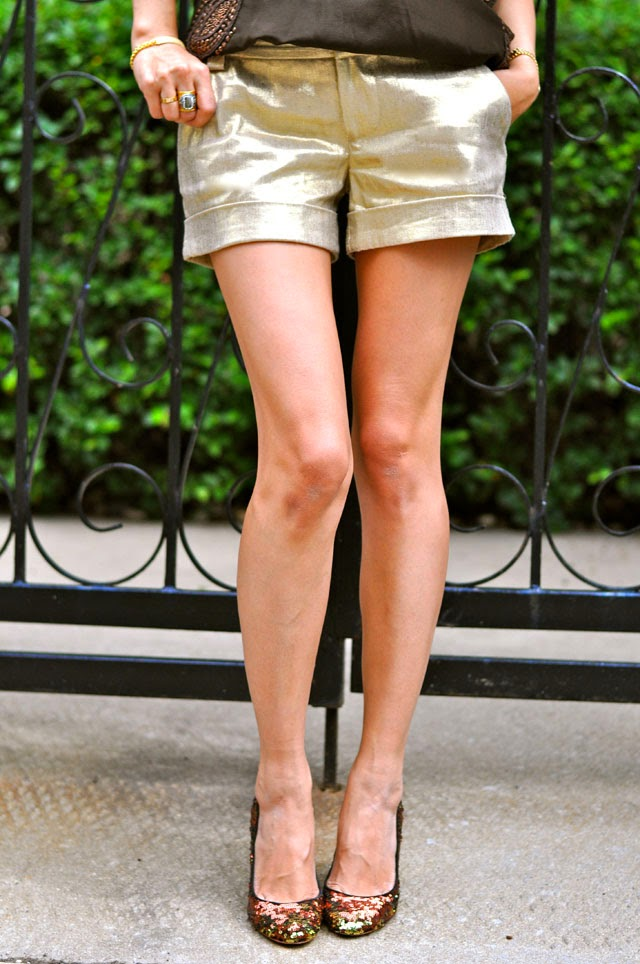 Cady Shorts, Sequin Pumps