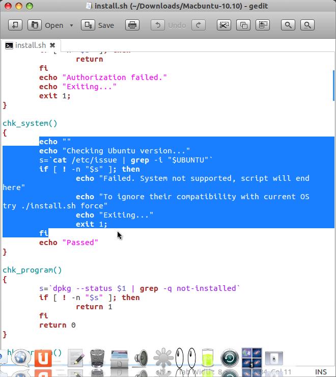 Install MacBuntu di Ubuntu 12.04 LTS - Hapus yang di Block