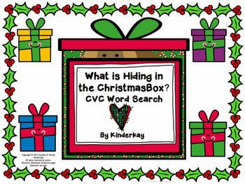 http://www.teacherspayteachers.com/Product/What-is-Hiding-in-the-Christmas-Box-CVC-Word-Search-966122