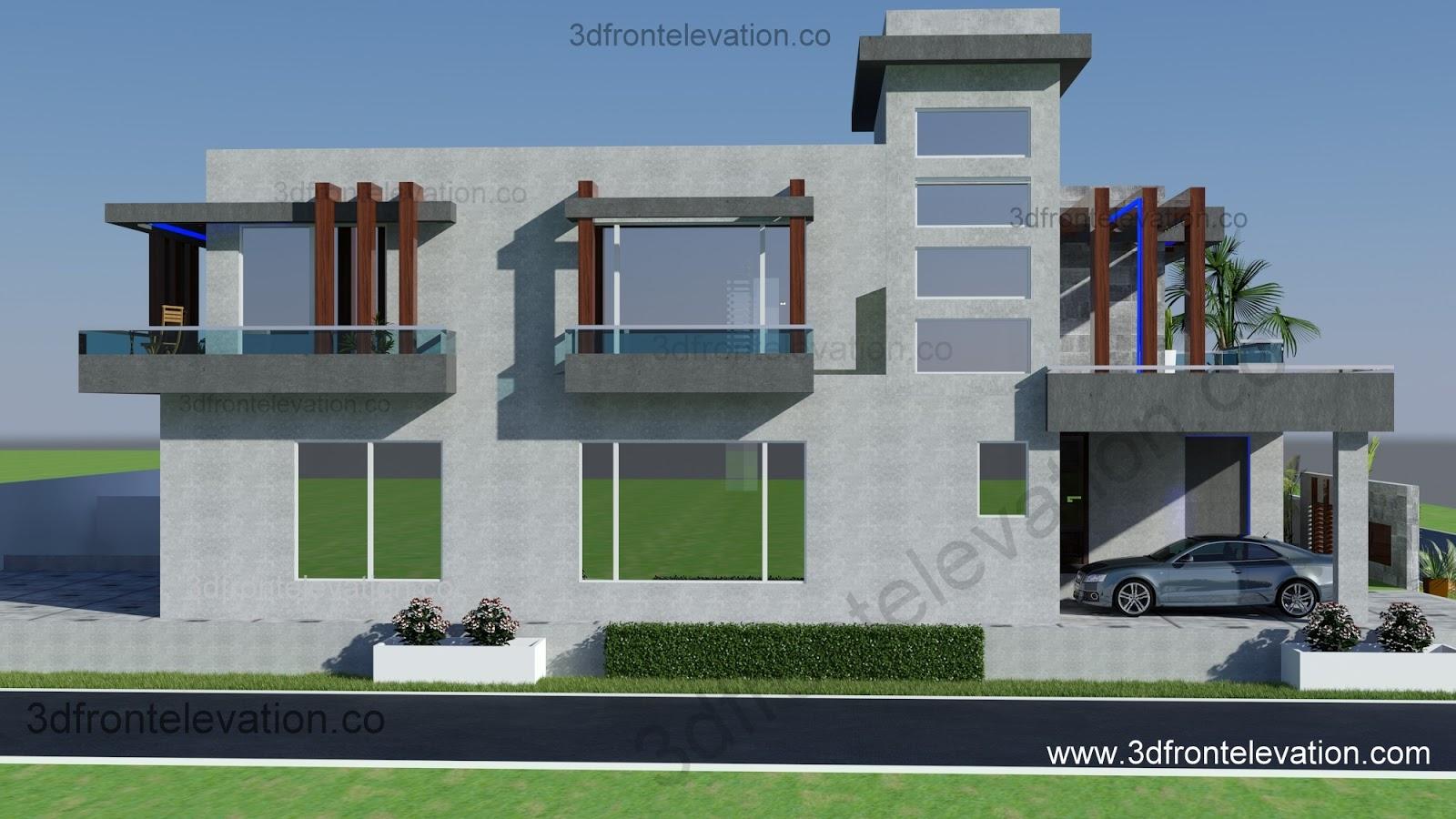 Villa House Front Elevation : D front elevation فيلا بناء جديد للبيع في الرمال