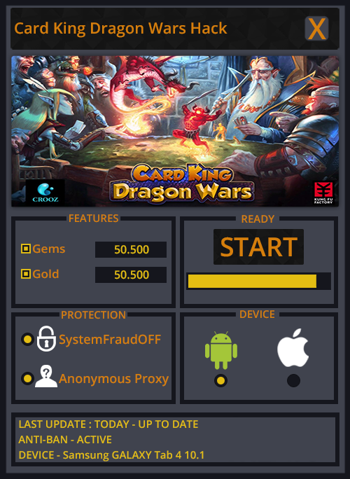 Card King Dragon Wars Hack