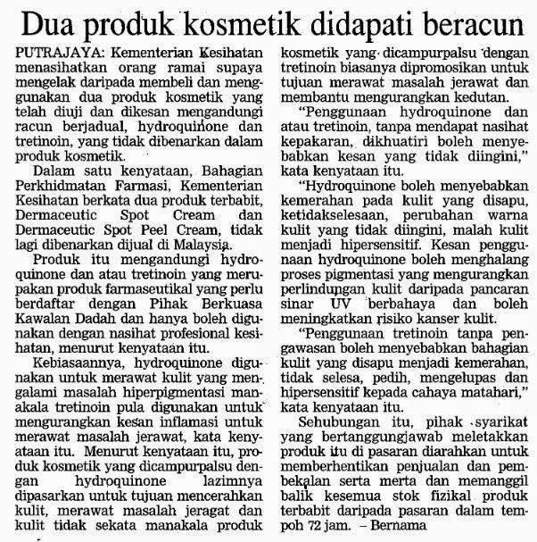 Petikan akhbar pada 13 Jun 2014