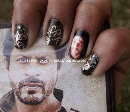 Custom Nail Decals: Bollywood Nails | Fetching Konad Nails