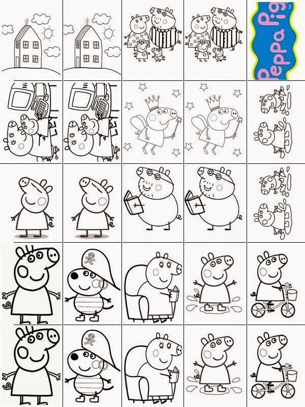 Extremamente Peppa Desenhos para Colorir: Peppa - Jogo da Memória HS86