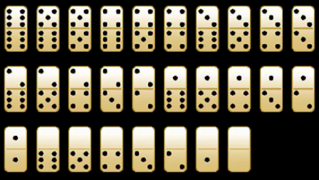 satu set kartu domino