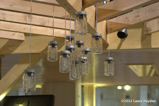 Outdoor lighting made with mason jars