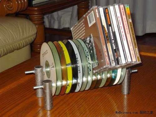 Turning out Waste CDs into beautiful CD rack,  best out of waste CDs and dvds