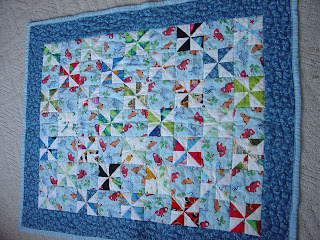 Windmill Baby Quilt Pattern - YouTube