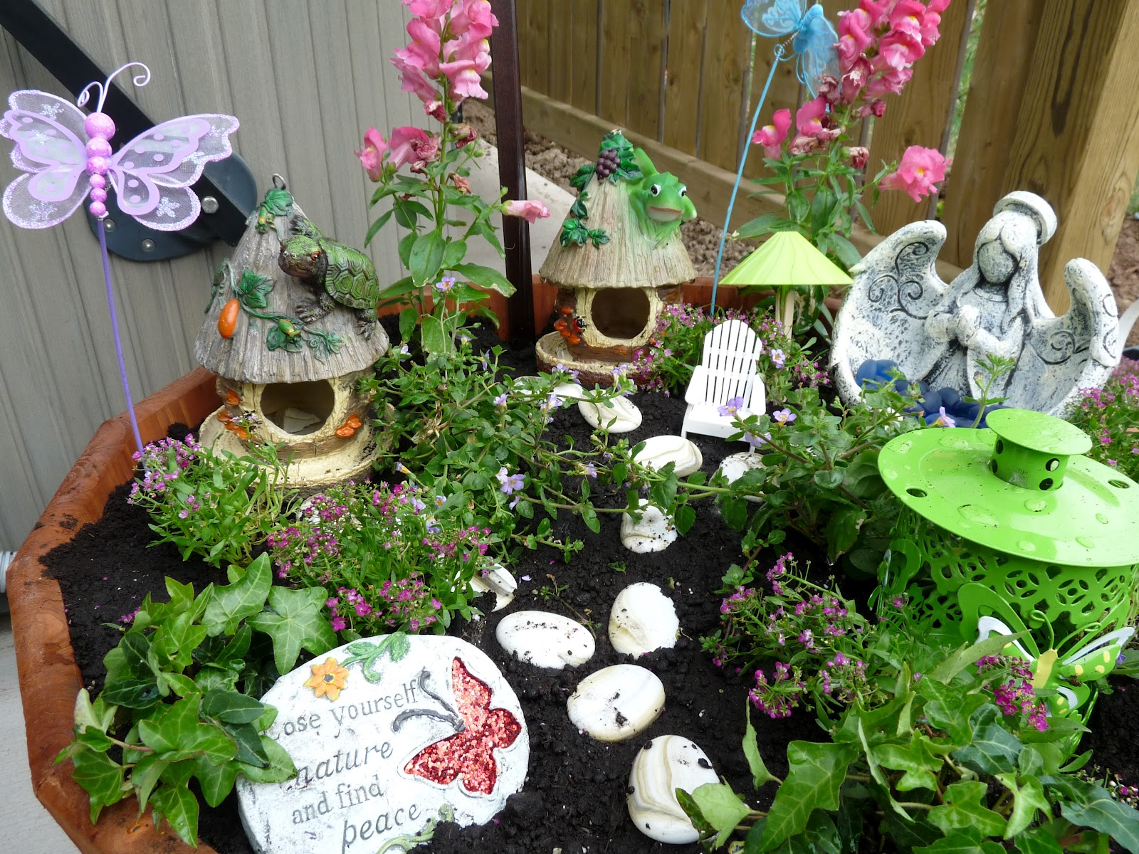 Idle scribbles of a niagara mom fairy garden - Garden decor stores ...