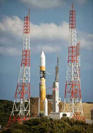 H-IIA ROCKET ROLLS OUT AT TANEGASHIMA SPACE CENTER