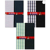 Buy Gwalior Unstitch Farmal Wear Set 3 Shirt & 3 Trouser at Rs. 488 : Buytoearn