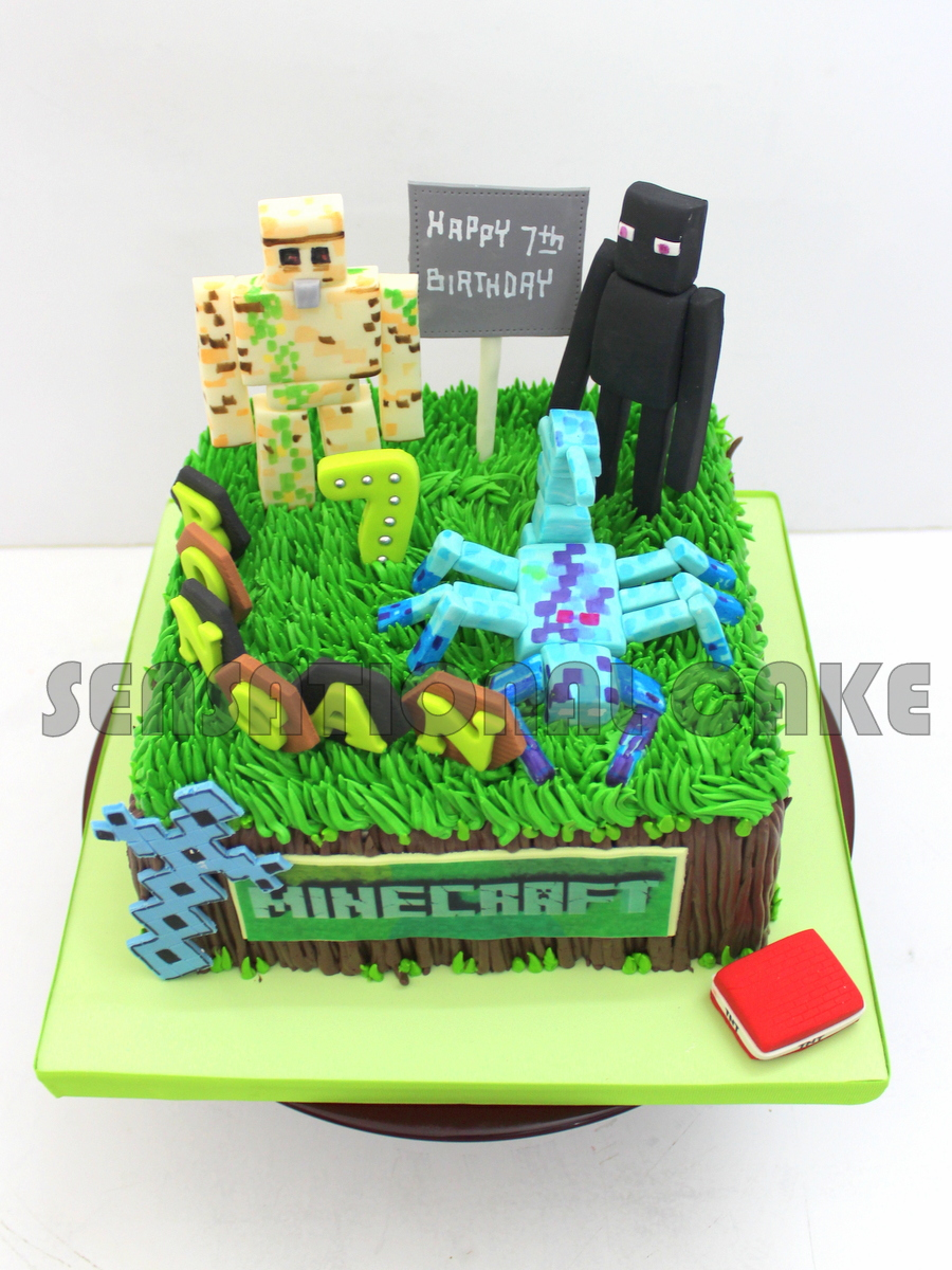 The Sensational Cakes Mine Craft Theme Figurines Singapore 3d