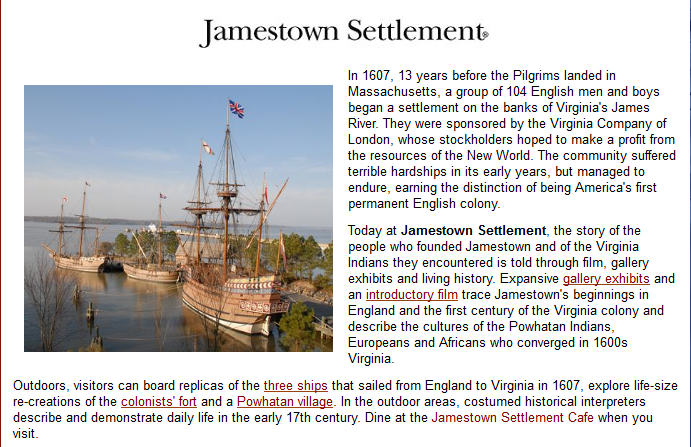 essay jamestown settlement Best jamestown settlement essays jamestown settlement - 449 words jamestown settlement the first permanent english colony in north america was established at jamestown, virginia, in 1607.