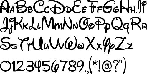 Alfabeto con formas Disney