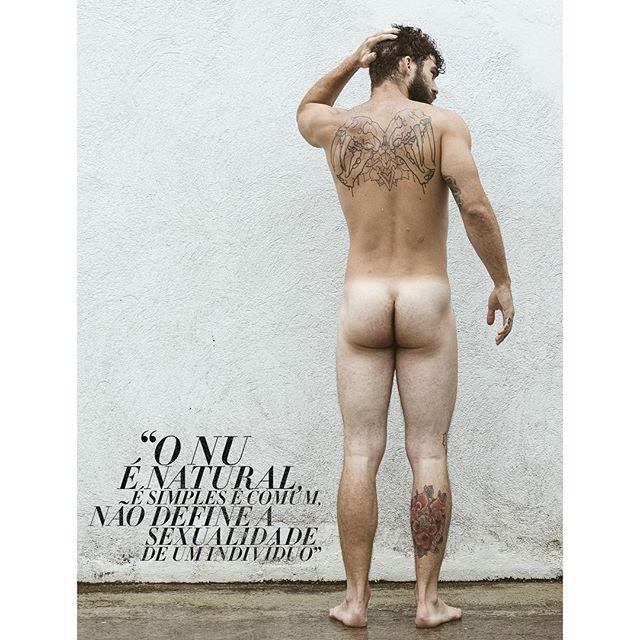 O modelo posou para fotos de nu artístico. Foto: André Carlos