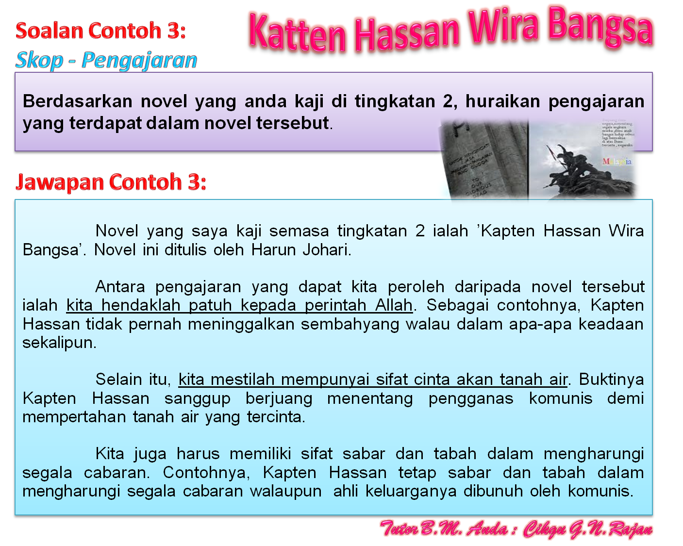 KAJIAN NOVEL SPM 1 : Azfa Hanani (Novel Tingkatan 4, Calon SPM 2011)