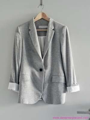 blazer femme gris zara blazer gris clair en jersey zara taille m neuve mode mode femme veste. Black Bedroom Furniture Sets. Home Design Ideas