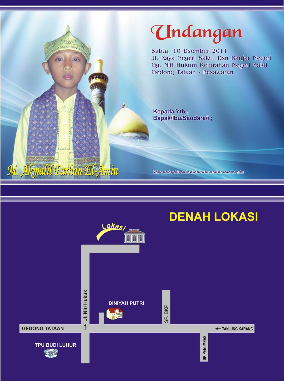 Cetak Undangan Pernikahan Khitanan Murah Dibandar Lampung Harga