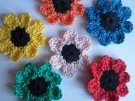 patroon gehaakte bloemen