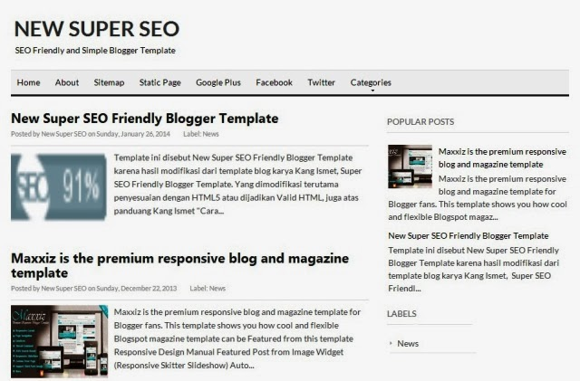 new super seo blog template