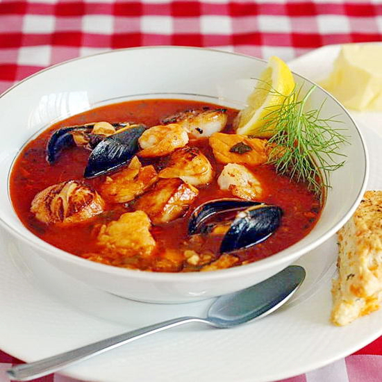 Manhattan Style Roasted Vegetable Chorizo & Seafood  Chowder