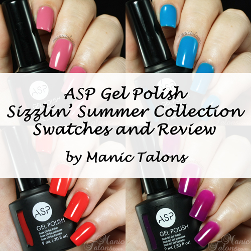 ASP Gel Polish Sizzlin Summer Collection Swatches