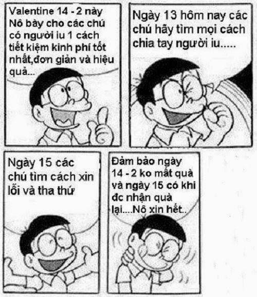 Tải Ảnh chế Nobita ngày Valentine hài hước bựa nhất