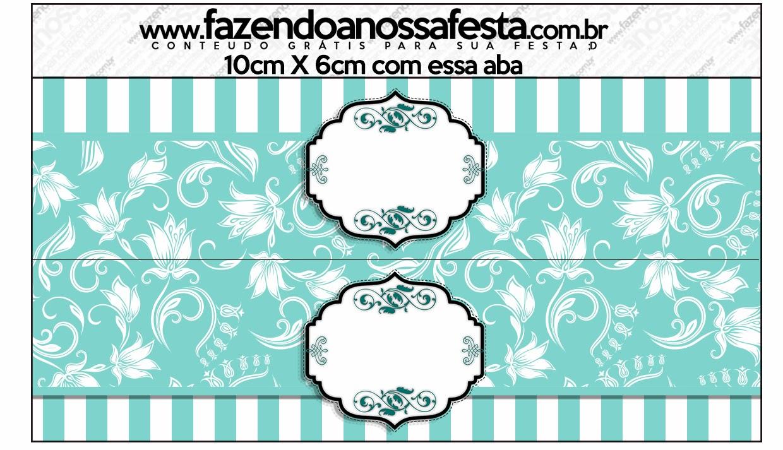 Etiqueta para bolsas de golosinas para Fiestas Tiffany.