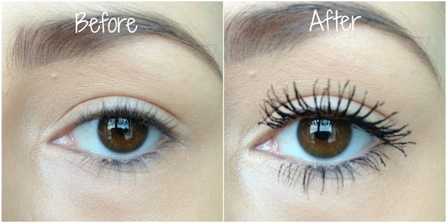L'Oreal False Lash Telescopic Mascara Before and After