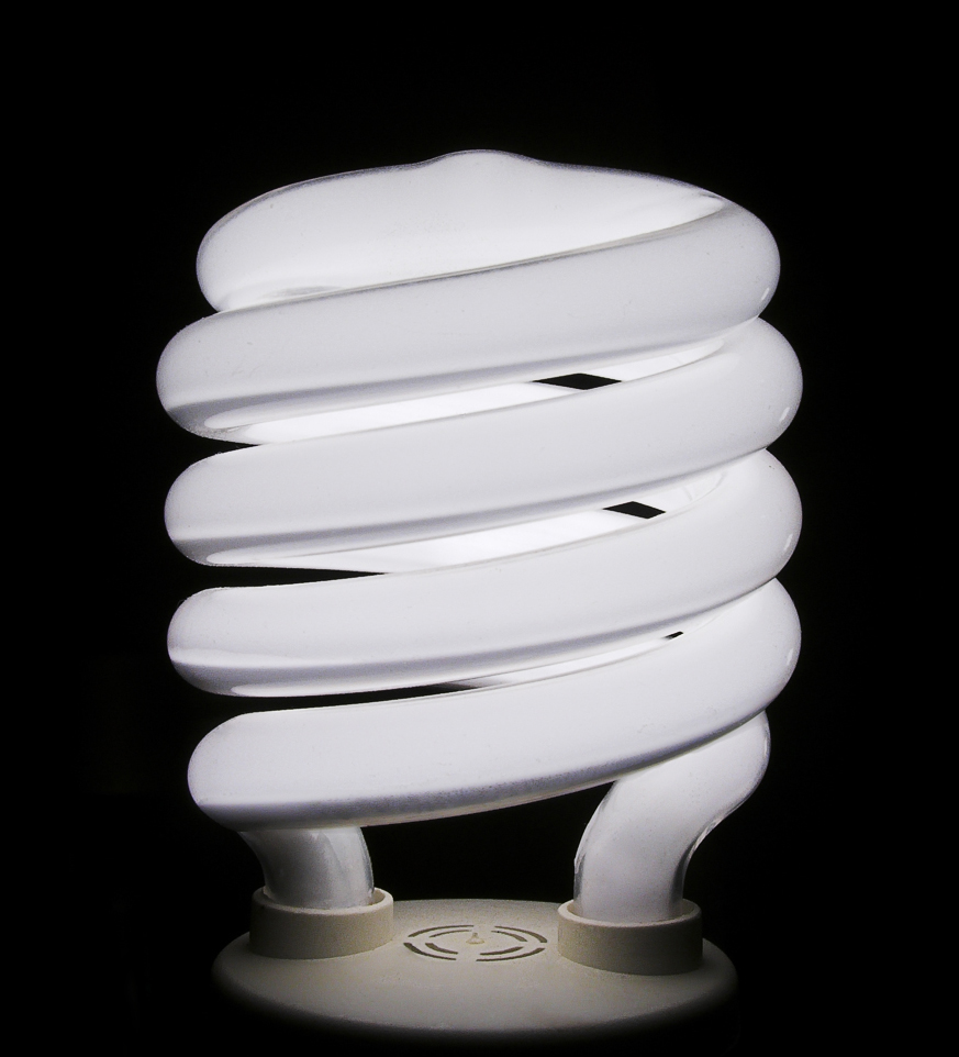 A typical compact fluorescent light bulb. : healthy lighting - azcodes.com
