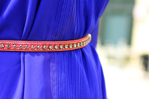 Loft Pink Jewelled Belt
