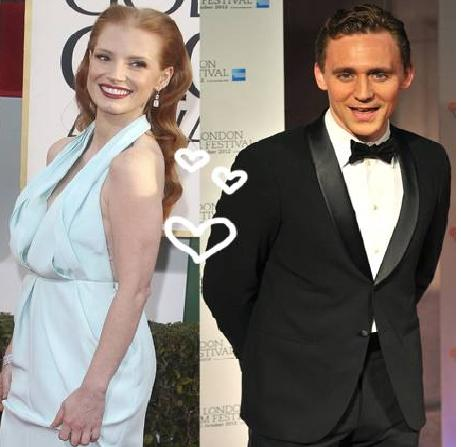 Loki Tom Hiddleston Is Dating with Jessica Chastain