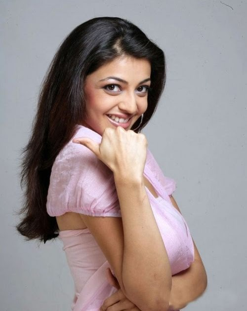 kajal agarwal mobile ad photoshoot in pink dress   hot