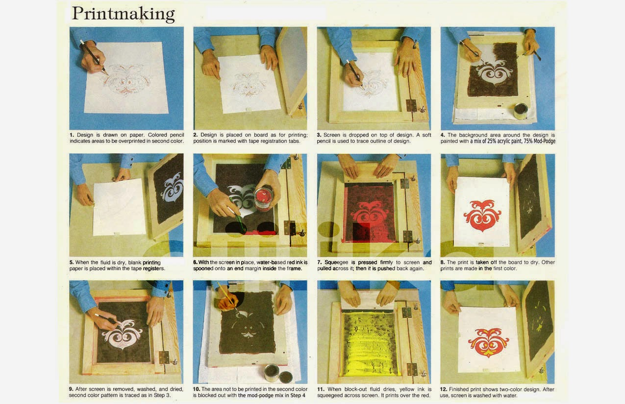Screen Printing Instructions Book