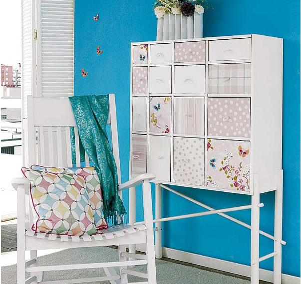How To Update Furniture With Wallpapers Home Decorating