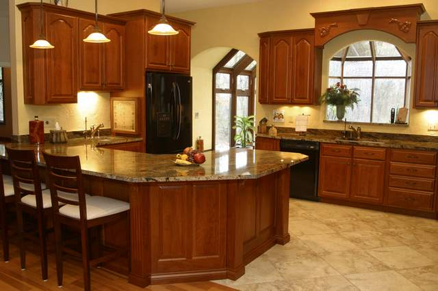 Easy Home Decor Ideas Different Kitchen Countertop: granite kitchen design ideas