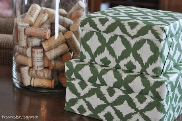 Ikat Boxes - the colored door