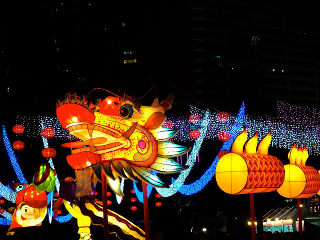 Dragon lantern display | Hong Kong Urban Mid-Autumn Festival in Victoria Park