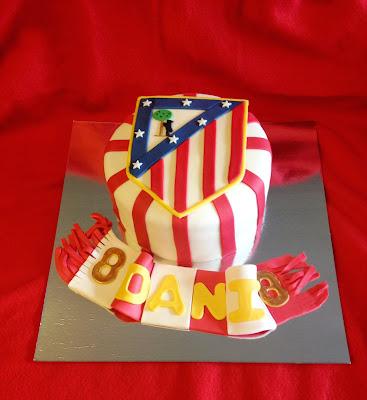 tarta atletico; tarta atletico de madrid; tarta fondant; tarta decorada