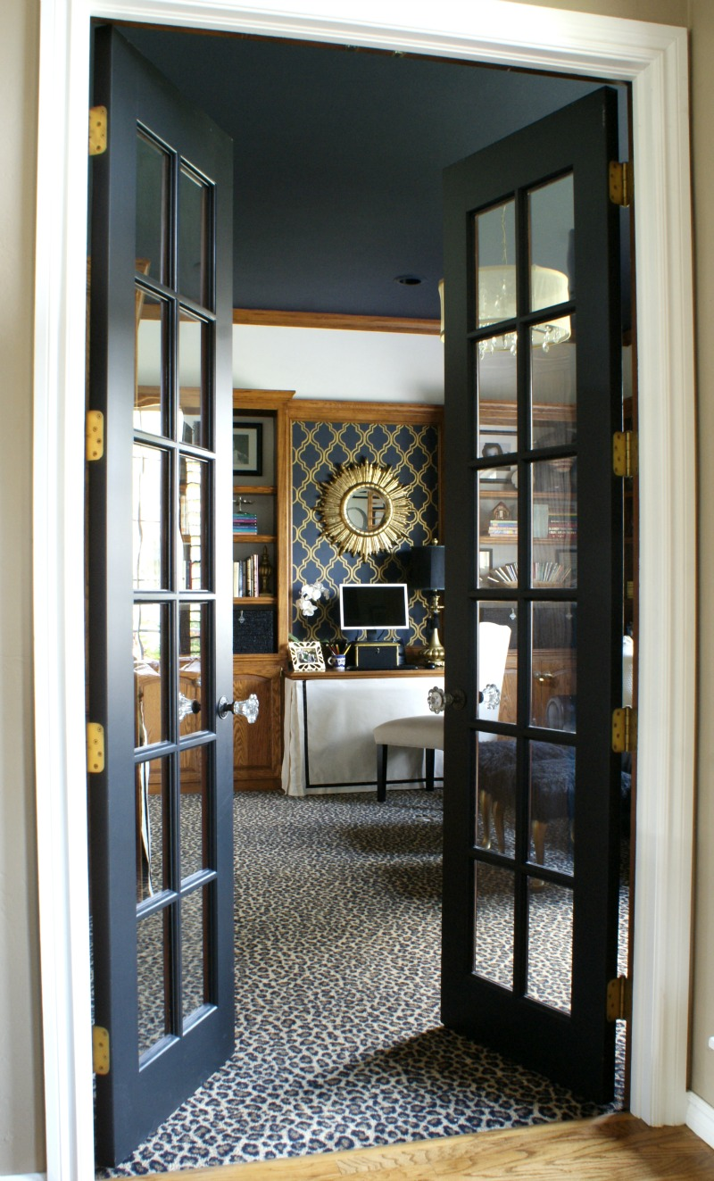 Office French Doors : The office close ups details dimples and tangles