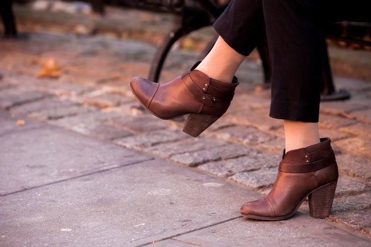 Brown leather Harrow boots
