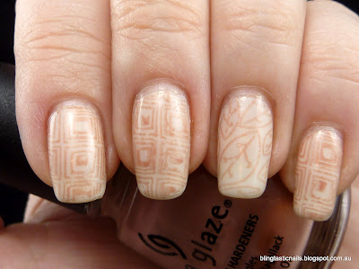China Glaze Down Under Dusk stamping