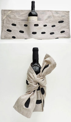 Wine Bottle wrapped in towel