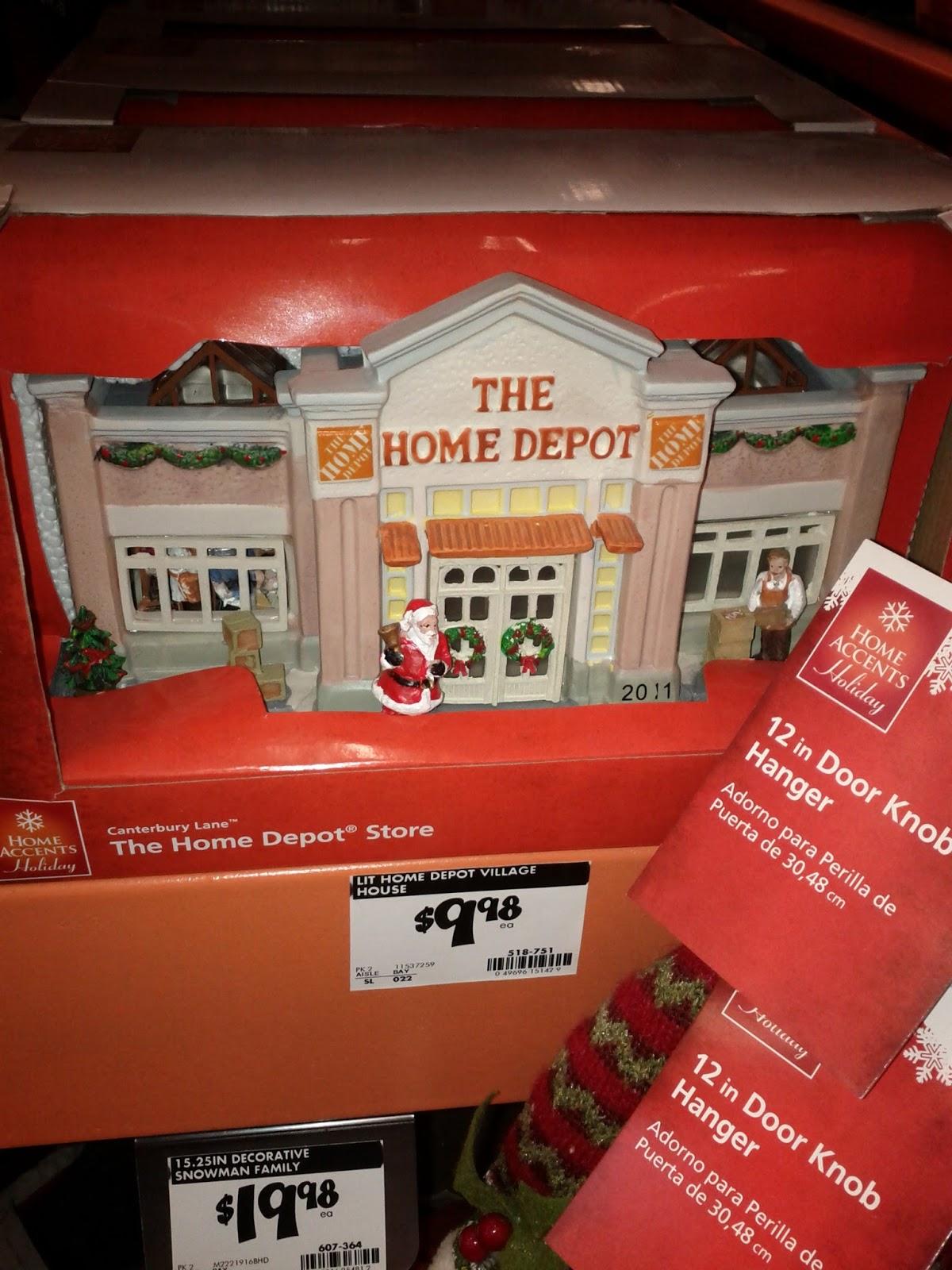 Home Depot Christmas Village