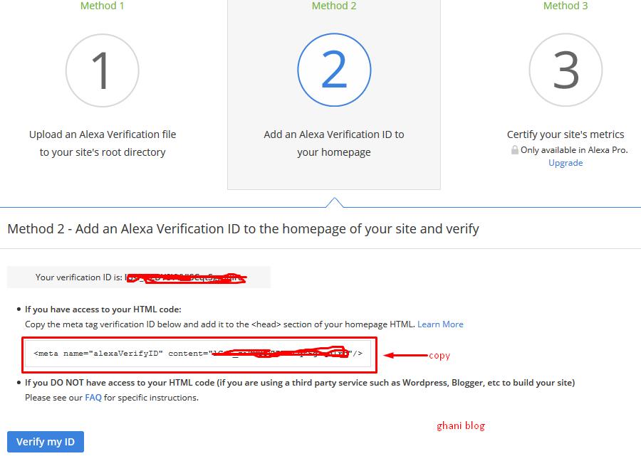 Cara Mendaftarkan Blog ke Alexa dan Verifikasi