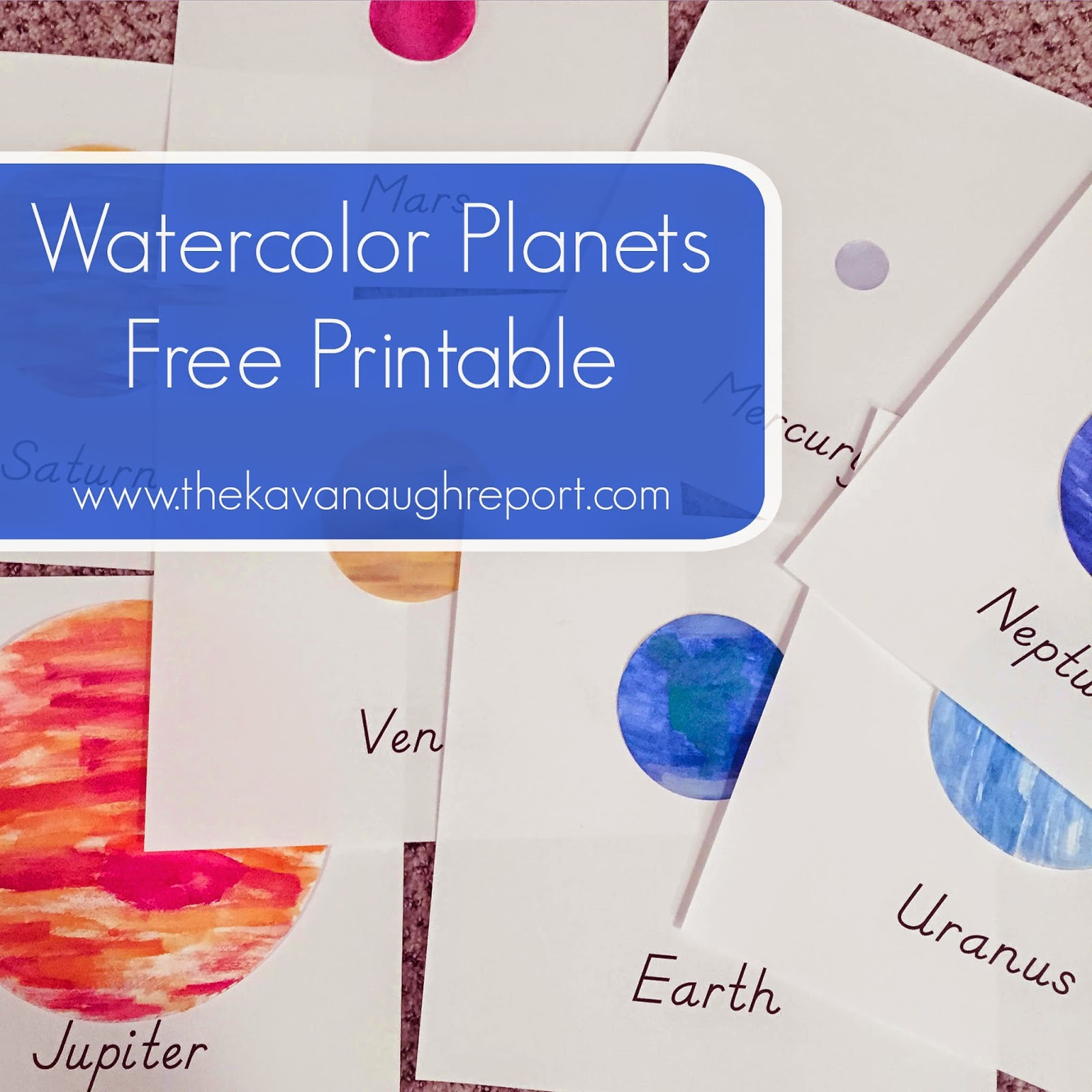 photo regarding Planets Printable identify Watercolor Planets Printable