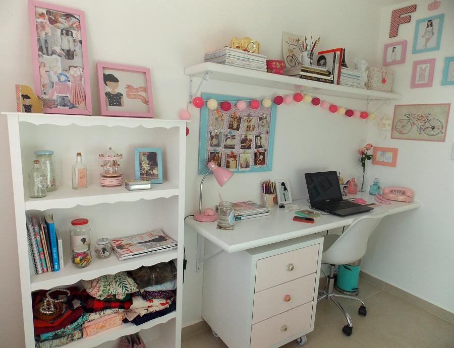 Happy Lar Mesa de estudos para quarto de meninas ~ Como Fazer Uma Mesa De Estudo Para Quarto