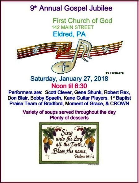 1-27 Gospel Jubilee, Eldred, PA